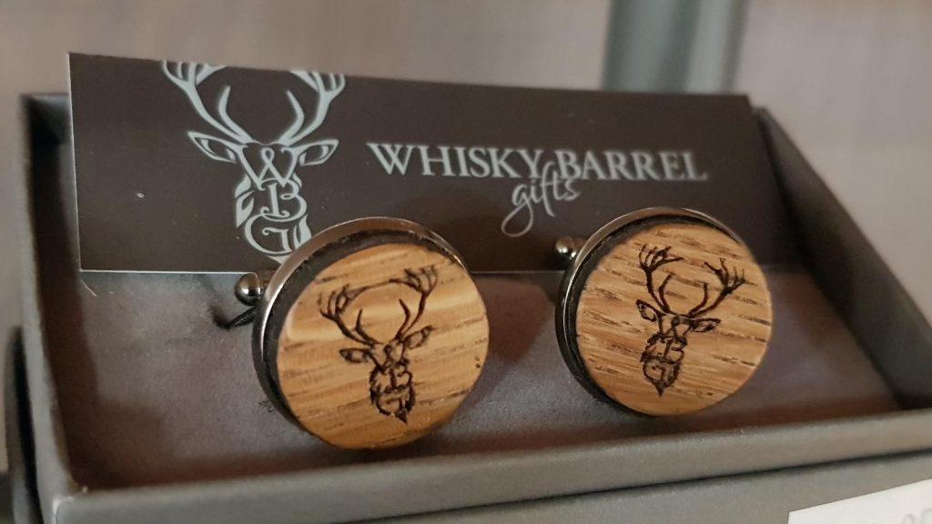 Whisky Barrel Stag Cufflinks